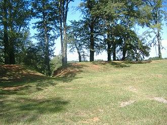 Fort Harker (Alabama) - Image: Fort Harker inside entrance