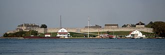 Fort Niagara - View of Fort Niagara from the Canadian side of the Niagara River