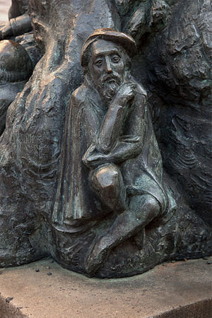 Ulrich Rülein von Calw - Ulrich Rülein von Calw, depicted on Freiberg's Fortuna Well