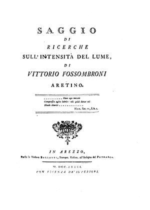 Vittorio Fossombroni - Saggio, 1781