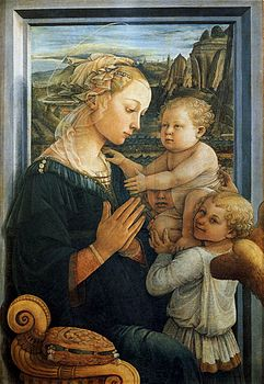 Fra Filippo Lippi - Madonna with the Child and two Angels - WGA13307.jpg