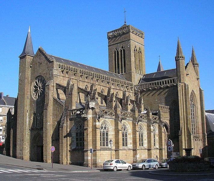 Vire (Normandie, France). L'église Notre-Dame.