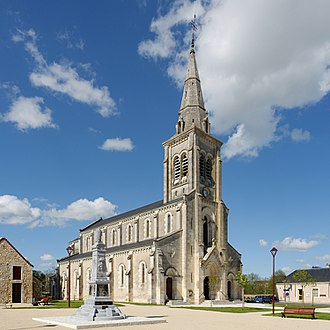 Tournon-Saint-Martin - The church of Saint-Martin, in Tournon-Saint-Martin