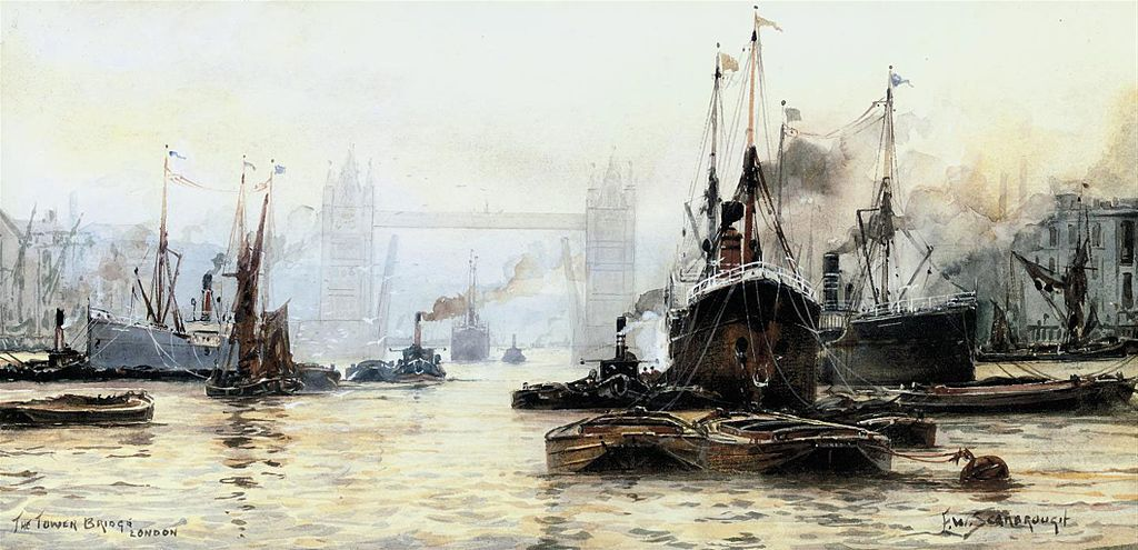 Dessin du Tower Bridge à Londres par Frederick William Scarborough