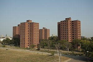 Brewster-Douglass Housing Projects - The four remaining towers as seen in 2010