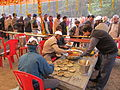 Free Food Distribution - Gangasagar Fair Transit Camp - Kolkata 2012-01-14 0618.JPG
