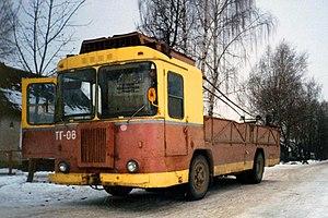 Trolleytruck - Image: Freight trolleybus TG 08 in Bryansk