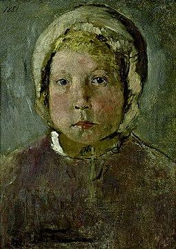 Fritz von Uhde Głowa dziewczynki 1882