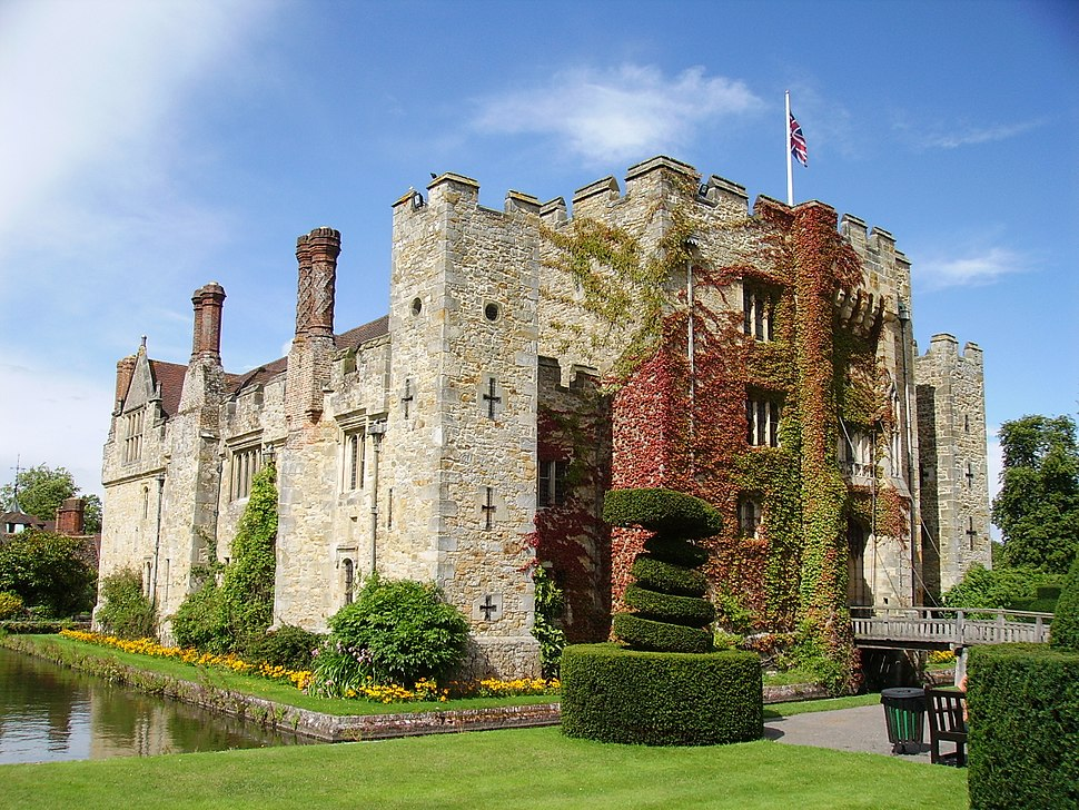 Front view of Hever Castle, Kent