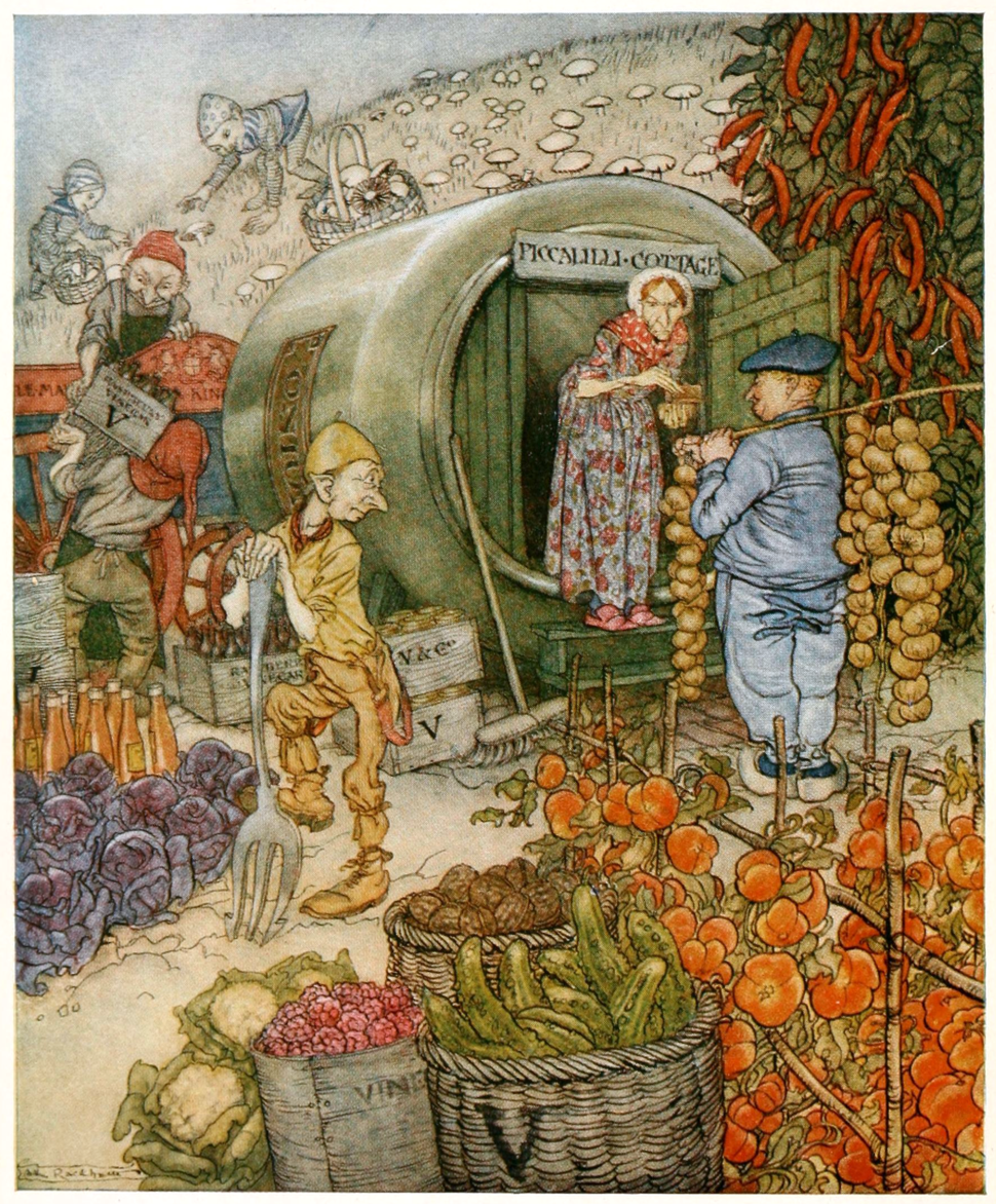 Frontispiece to English Fairy Tales (Steel)