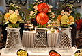 Fruit and Vegetable flowers atop ice stand sculptures -- Formal Brunch Aboard the Celebrity Equinox, 12-09-2011 (6857448559).jpg