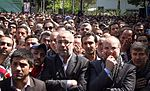 Funeral of Omid Abbasi, firefighter who saved his colleague's life in Tehran 04.jpg