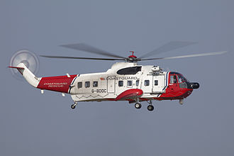 Sikorsky S-61 - A Netherlands Coastguard S-61L operated by Bristow Helicopters
