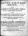 G. D. Coschwitz, Ductus salivalis novus... Wellcome L0022992.jpg