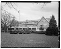 GENERAL VIEW OF NORTH SIDE LOOKING SOUTHEAST - Admiral Farragut Academy, 601 Riverside Drive, Pine Beach, Ocean County, NJ HABS NJ,15-PINB,2-1.tif