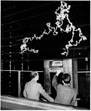 FM broadcasting - FM has better rejection of static (RFI) than AM.  This was shown in a dramatic demonstration by General Electric at its New York lab in 1940. The radio had both AM and FM receivers.  With a million-volt arc as a source of interference behind it, the AM receiver produced only a roar of static, while the FM receiver clearly reproduced a music program from Armstrong's experimental FM transmitter in New Jersey.
