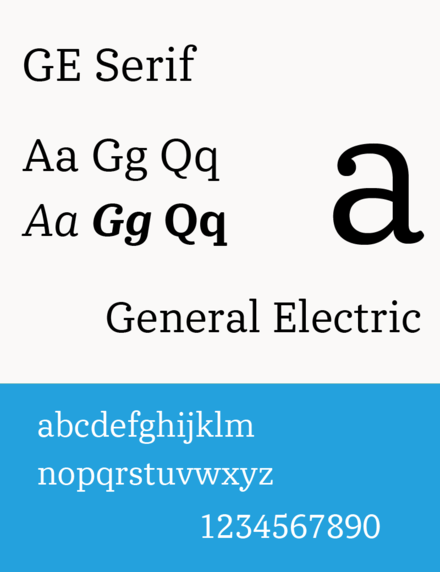 Ge serif used since 2014