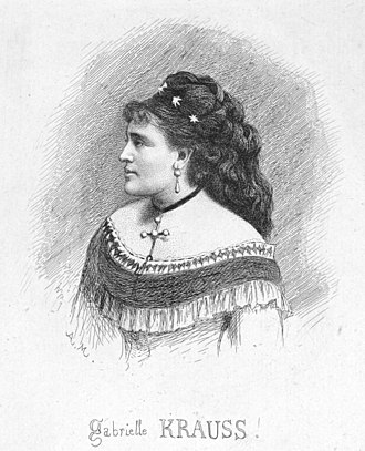 Petite messe solennelle - Gabrielle Krauss, the soprano in the first public performance