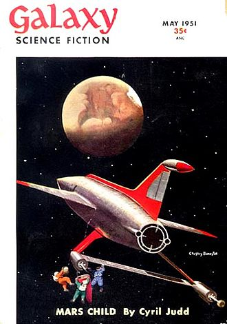 Cyril M. Kornbluth - The opening installment of Mars Child, by Kornbluth and Judith Merril, took the cover of the May 1951 issue of Galaxy Science Fiction