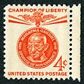 Gandhi on US stamp, Champion of Liberty.jpg
