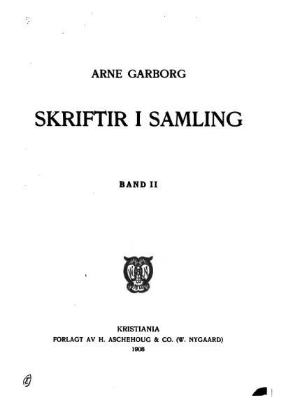 File:Garborg - Skriftir i Samling, Band II.djvu
