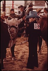 Garfield County Fair. Judging Livestock Raised by Youngsters in the 4-H Program, 09-1973 (3815845154).jpg