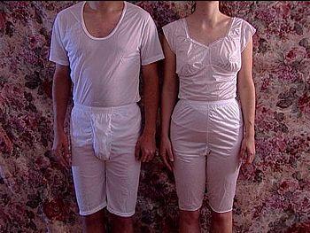 English: Temple garments, underwear worn by me...