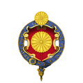 Garter-encircled shield of arms of Yoshihito, Emperor of Japan.png