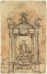 Sketch for a tomb with baldachin