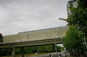 Gateway station (SkyTrain) - Image: Gateway Station outside