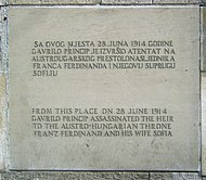 Gavrilo princip memorial plaque 2009 edit1