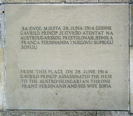 Gavrilo princip memorial plaque 2009 edit1