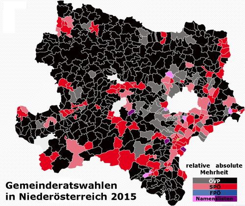 Gemeinderatswahlen in Niederösterreich 2015 – Wikipedia
