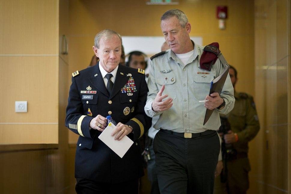 Gen. Martin E. Dempsey meets with Lt. Gen. Benny Gantz
