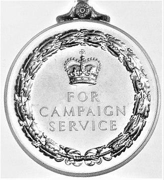 General Service Medal (1962) - Image: General Service Medal 1962 rev