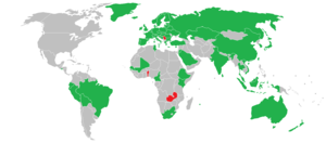 Genetically modified food - Green: Mandatory labeling required; Red:Ban on import and cultivation of genetically engineered food.