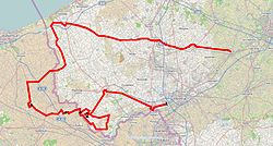The route of the 2014 Gent–Wevelgem.