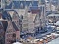 Gent Graslei viewed from Burg Gravensteen 4.jpg