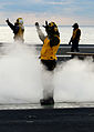 George HW Bush conducts training, carrier qualifications 130125-N-TB177-081.jpg