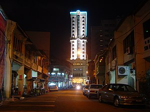 George Town at night