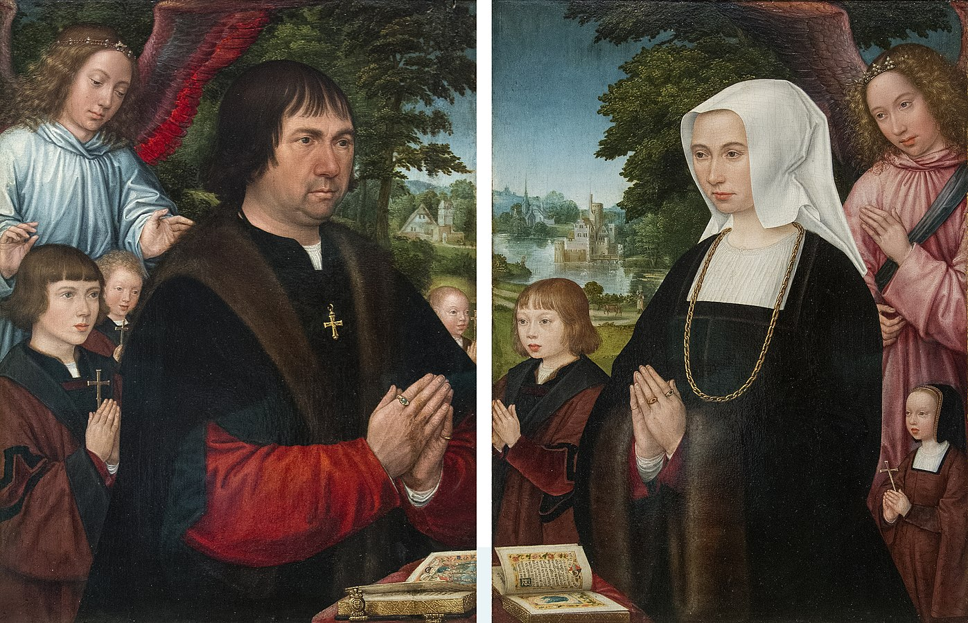 Portrait of Lieven van Pottelsberghe and Portrait of Livina van Steelant