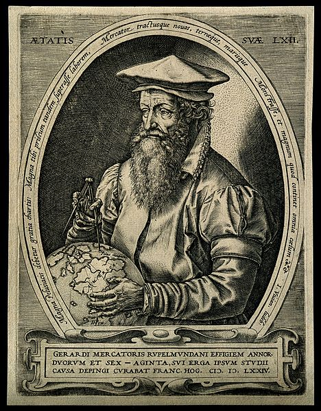File:Gerard Mercator (Cremer). Line engraving by H. Goltzius, 157 Wellcome V0003977.jpg