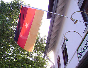 combination of German and Turkish national flags