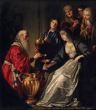 Triumph of Frederick Henry, Prince of Orange - Gerard van Honthorst, Artemisia Drinking the Ashes of Mausoleus, c.1635, Princeton University Art Museum - collected by Frederick Henry's widow and shown in the Huis ten Bosch