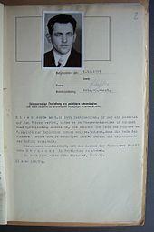 Gestapo-Akte Georg Elser (Delikt)