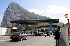 Gibraltar–Spain border - The border, seen from the Spanish side