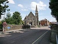 Gillingham, Town Bridge and the Methodist church - geograph.org.uk - 1434133.jpg