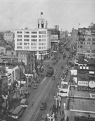 Tokyo - Ginza area in 1933