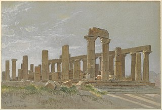 Girgenti (The Temple of Juno Lacinia at Agrigentum)
