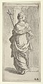Girl carrying a crucifix and stepping toward a pilaster, seen from behind MET DP837812.jpg
